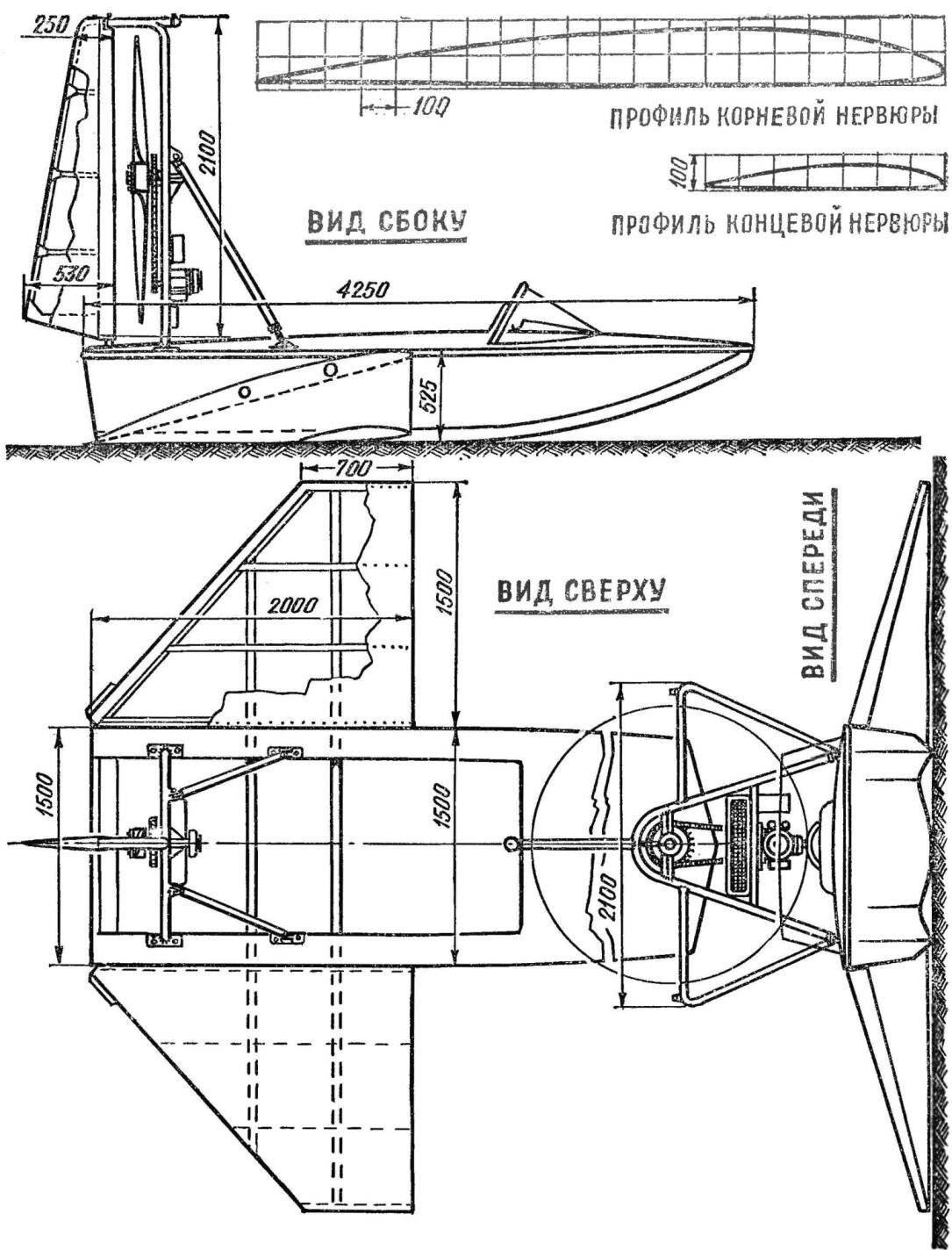 Рис. 2. Лодка на крыльях.