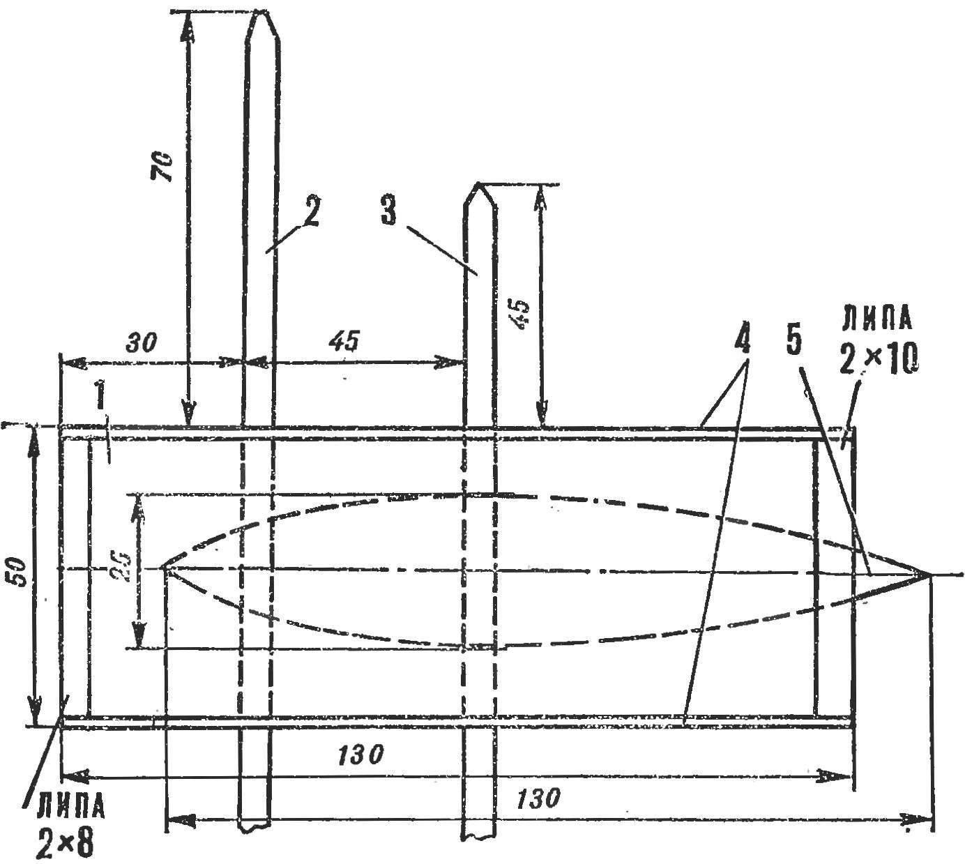 Рис. 5. Пилон с центропланом