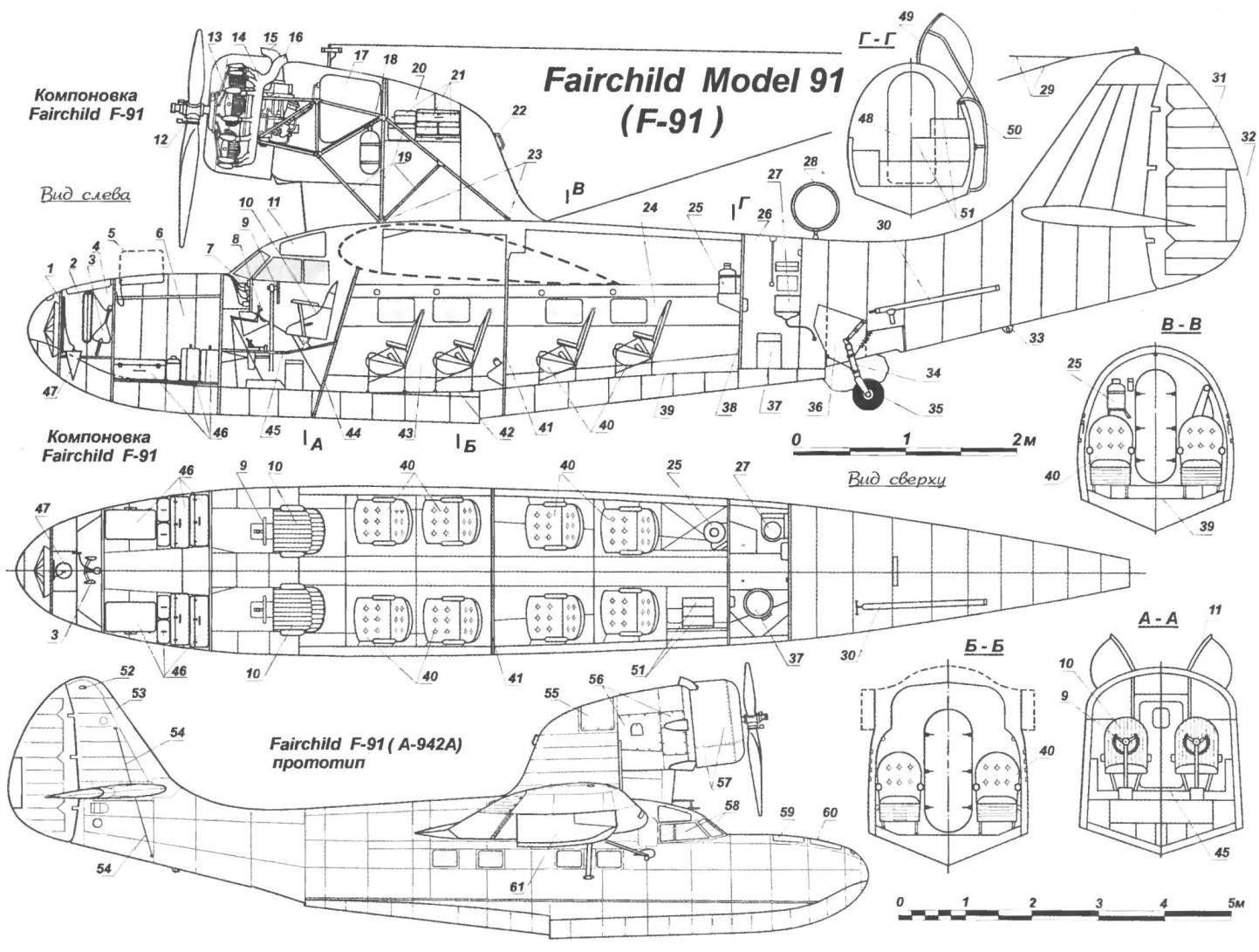 Летающая лодка-амфибия Fairchild Model 91 (F-91)