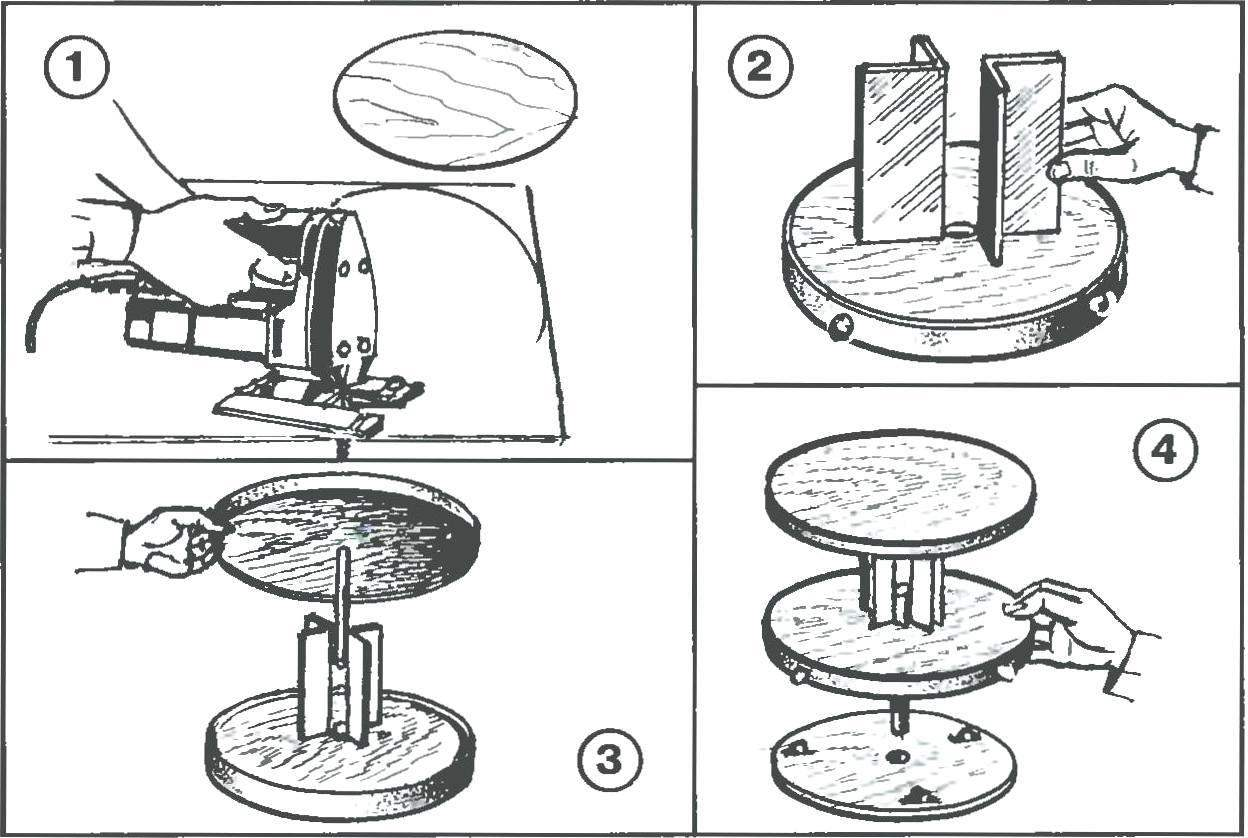 Рис. 2. Последовательность изготовления полки