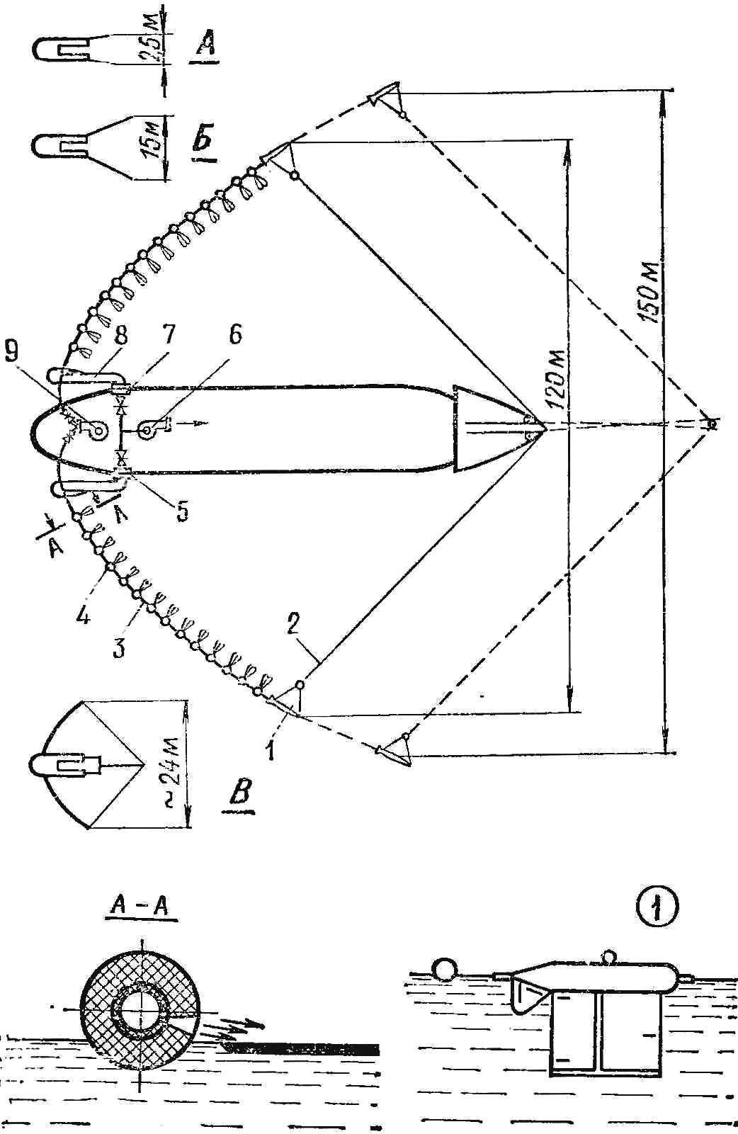 Рис. 1. Схема нефтесборщика