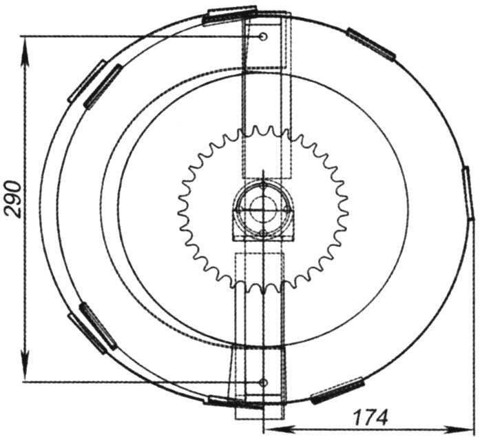 Rotor-screw: main dimensions