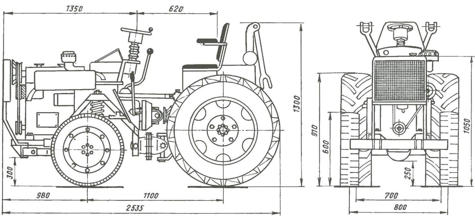 Самодельный трактор фото чертежи схемы
