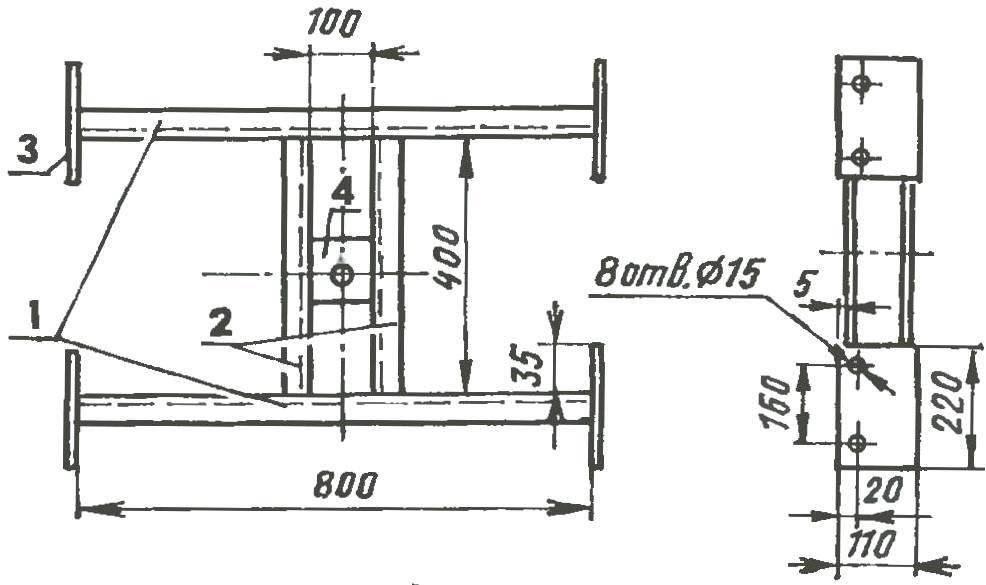 Fig. 3. Bogie frame