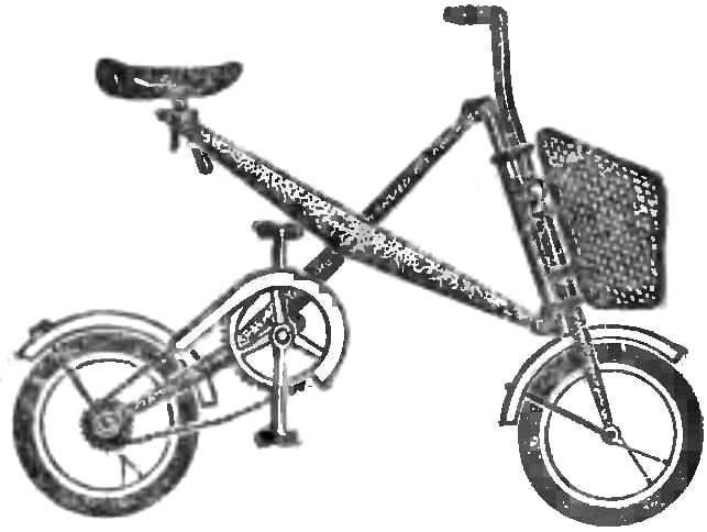 Рис. 3. Велосипед, складывающийся как ножницы.