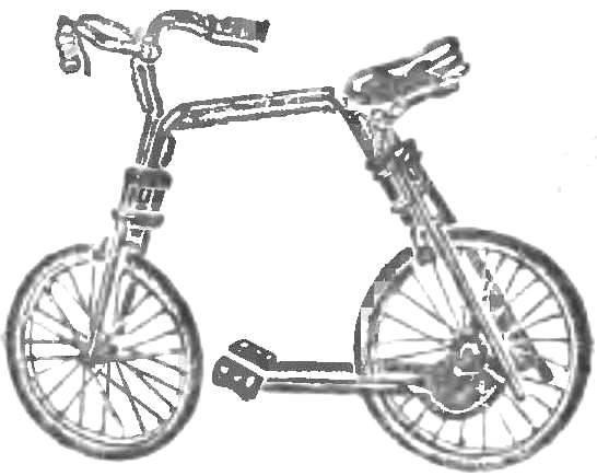 Рис. 6. «Мостовая» схема рамы и рычаги вместо педалей.