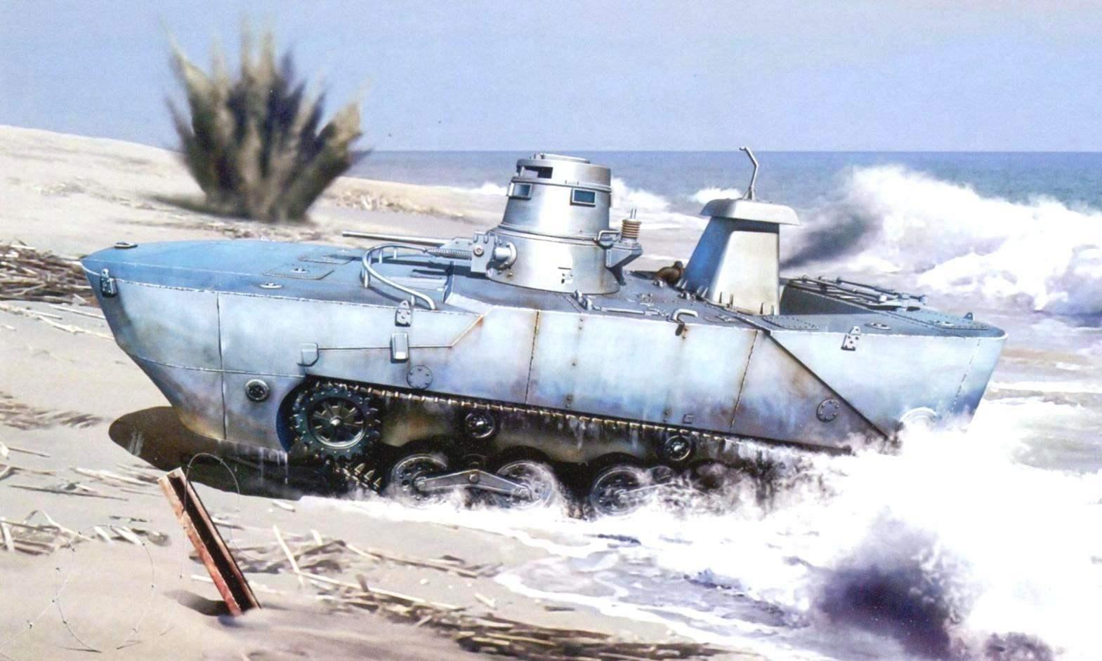 Плавающий танк «Ка-Ми» создан по заказу Императорского флота