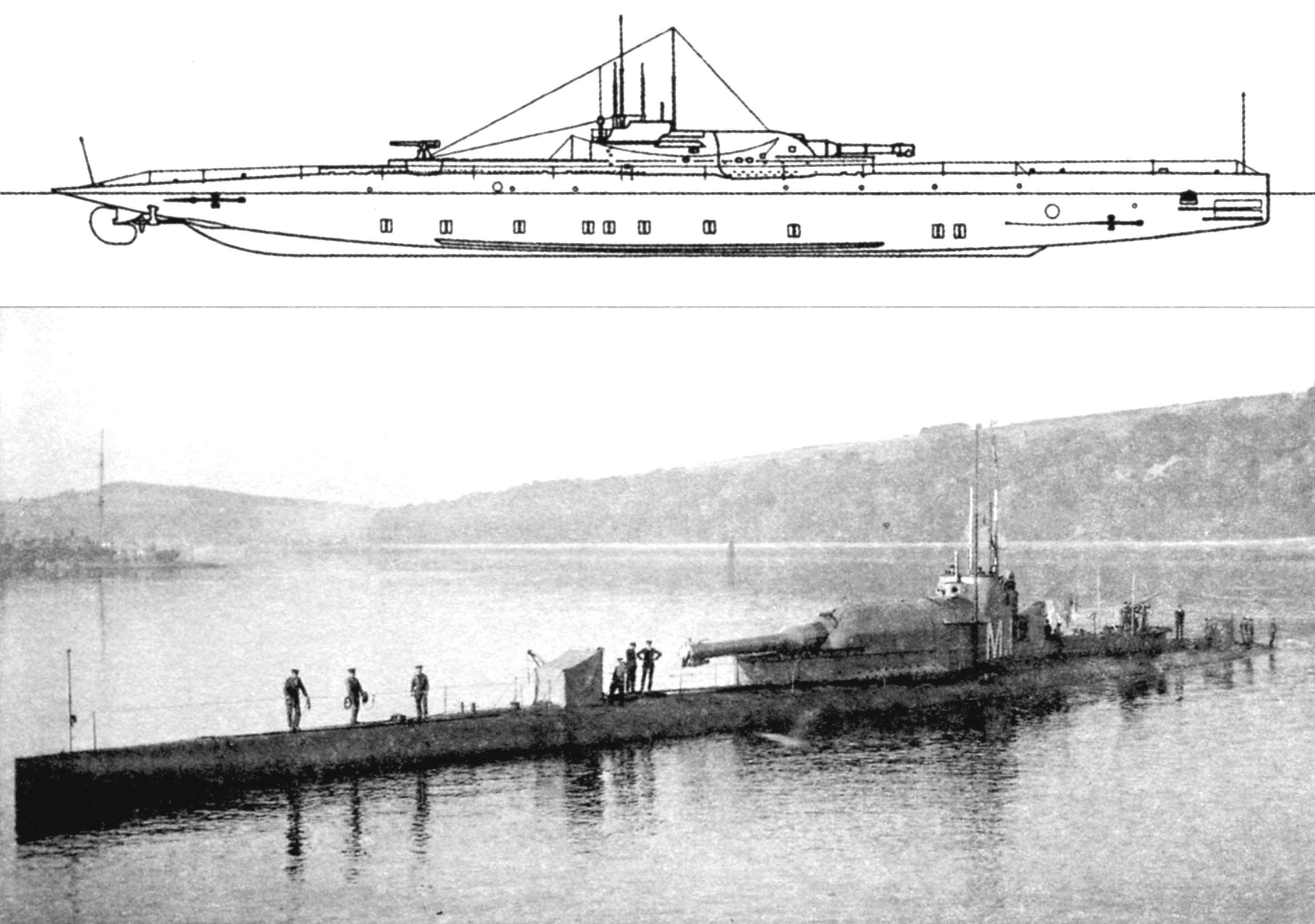Артиллерийская подводная лодка «М-1» (Англия, 1918 г.)