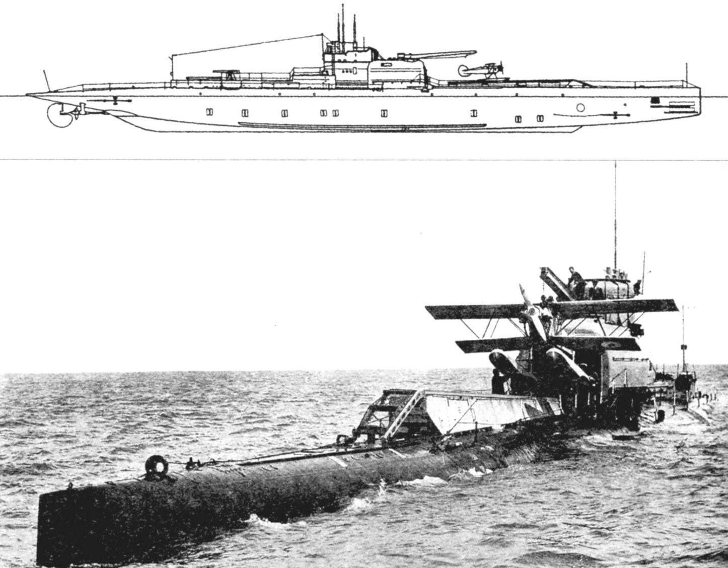 Submarine aircraft carrier