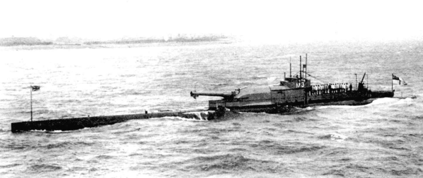 Субмарина «М-3», укомплектованная 12-дюймовой пушкой