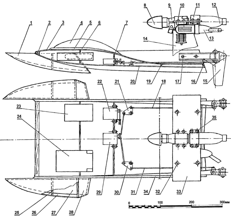лодка на радиоуправлении своими руками чертежи