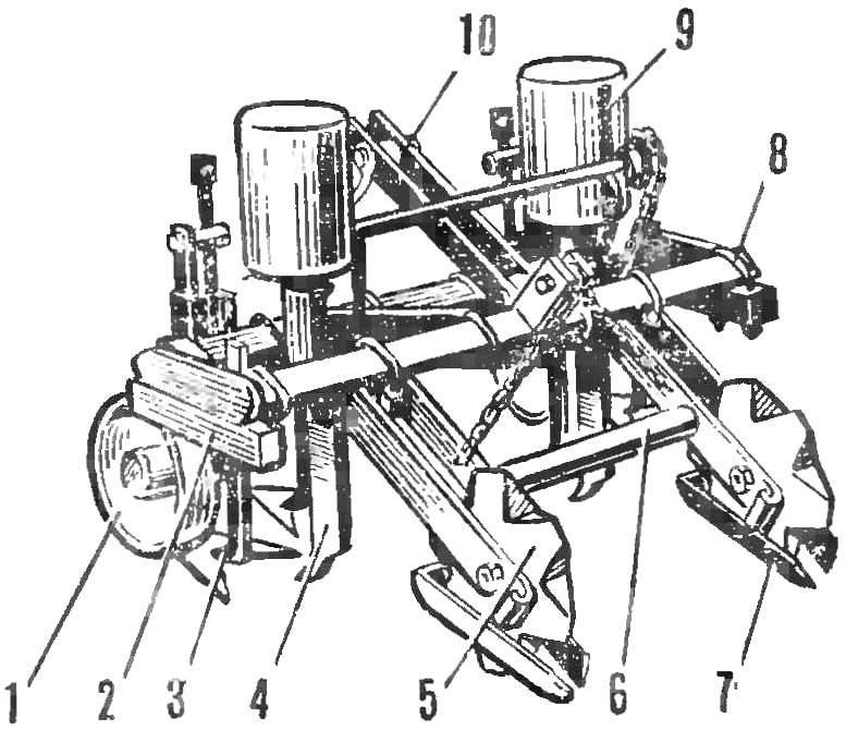 Рис. 5. Устройство для комплексной обработки склоновых земель