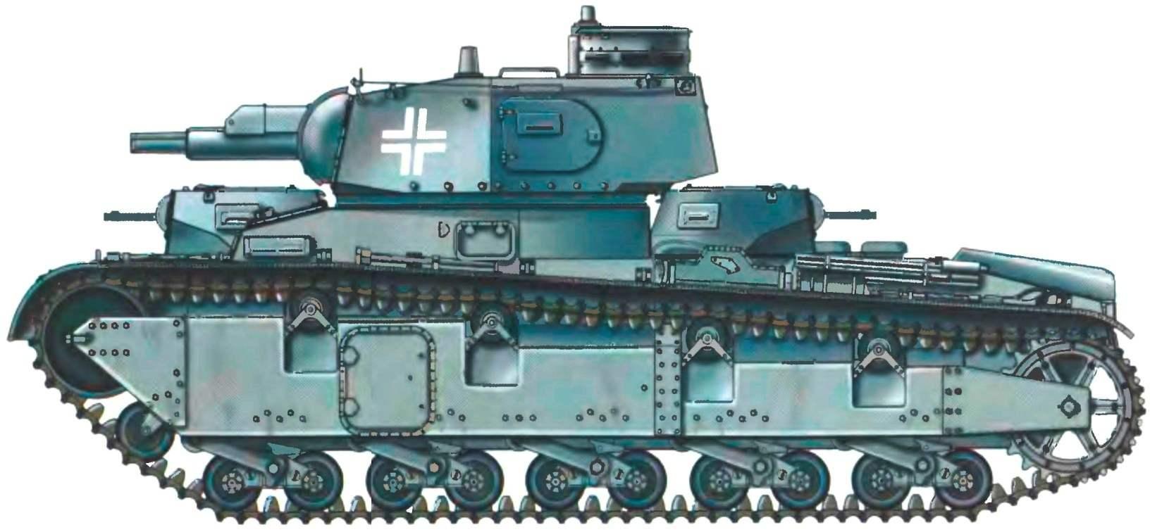 Серийный танк Nb.Fz. из состава 40-го отдельного танкового батальона специального назначения (Pz.Abt.z.b.V.40). Норвегия, 1940 год