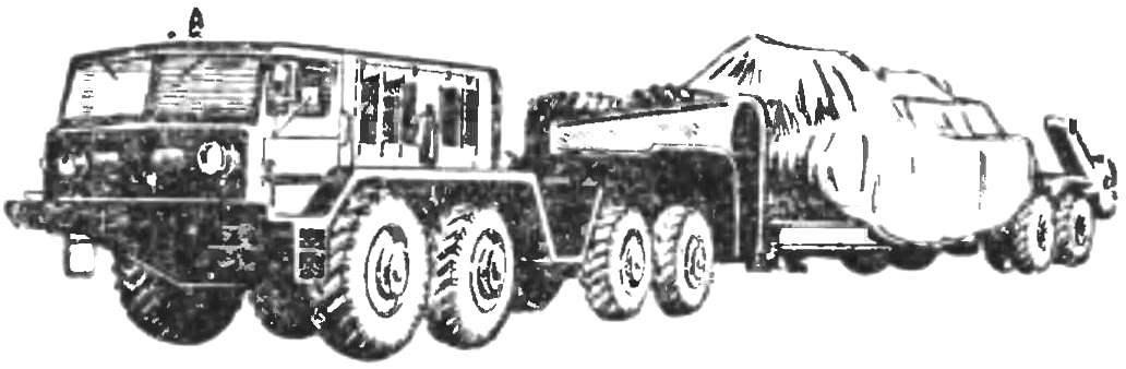 Fig. 1. Eight-wheel all-terrain vehicle MAZ-537
