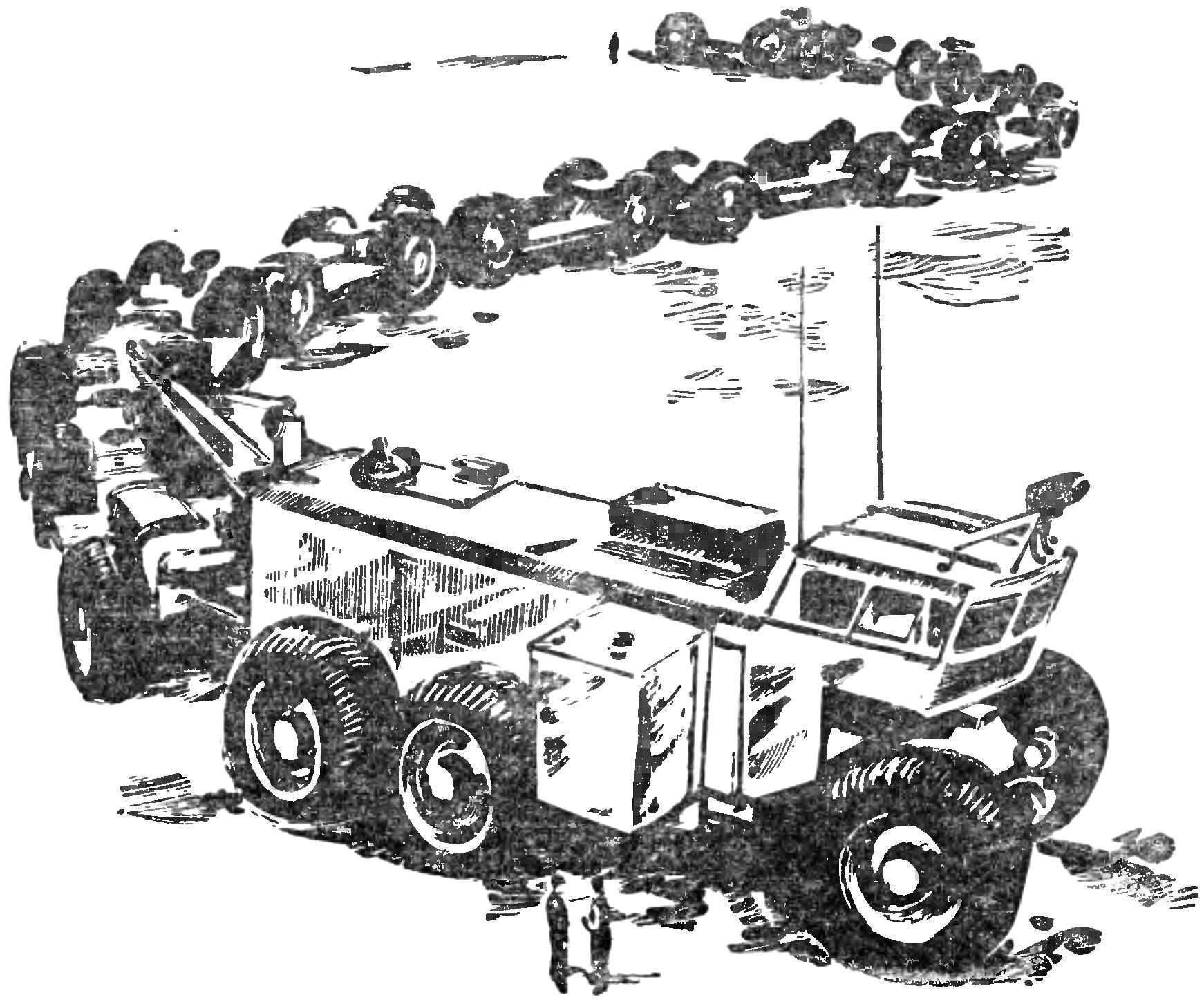 Рис. 9. Гигантский многозвенный автопоезд