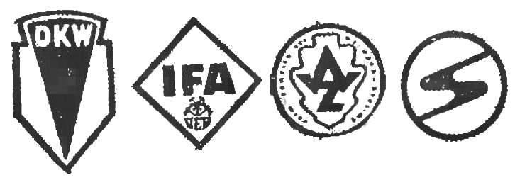Эмблема автозавода в Цвиккау менялась трижды: от ДКВ на ИФА, затем на АВЦ и сейчас «Саксенринг»