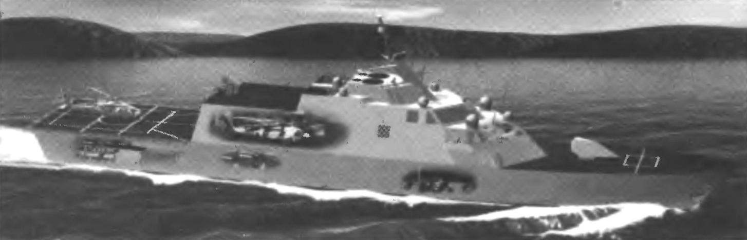 131. Project the image of a ship LCS United States.