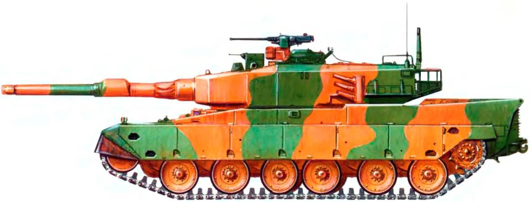 Основной боевой танк «90» в летней камуфляжной окраске. 1998 год
