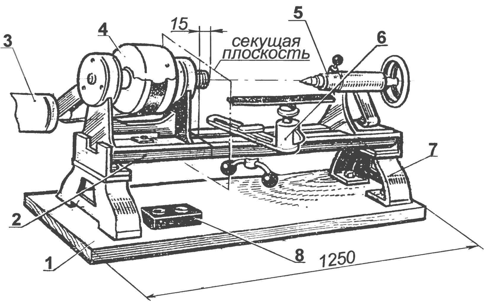 Lathe woodworking machine STD-120