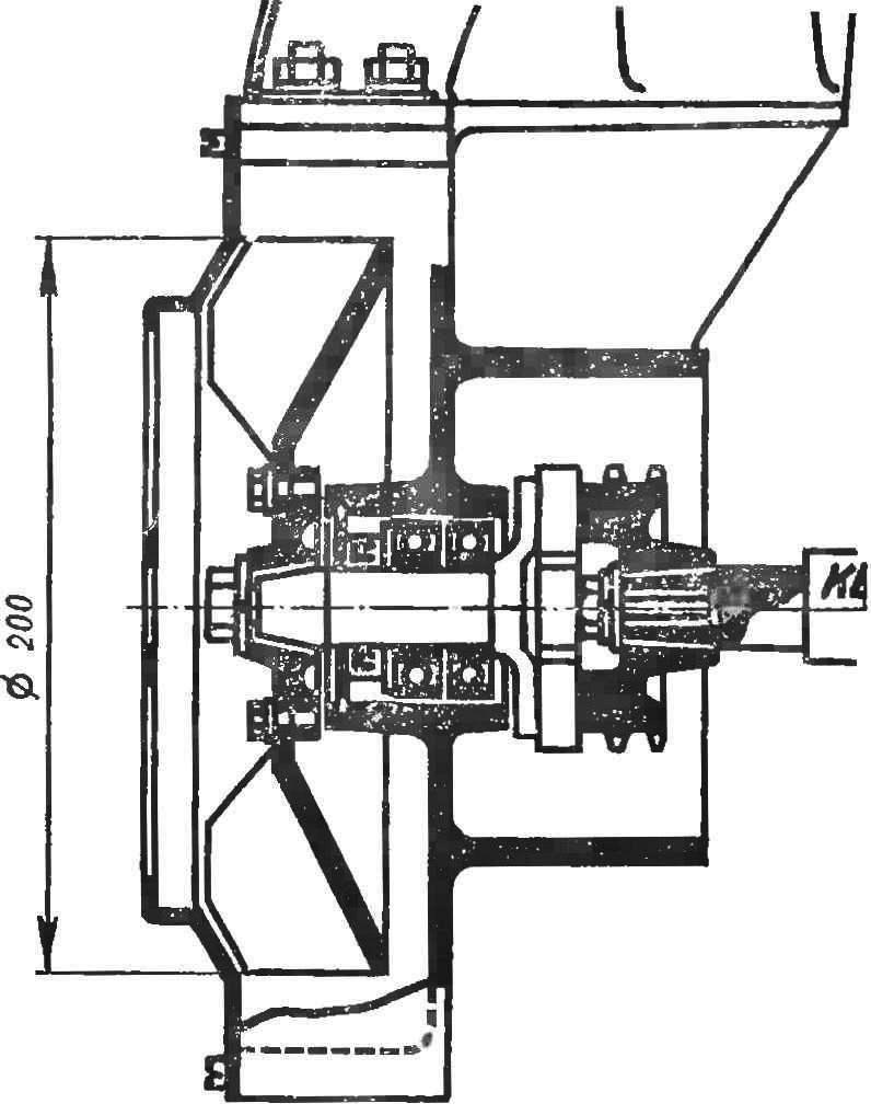 Рис. 2. Конструкция воздуходувки мотоколяски серпуховского завода