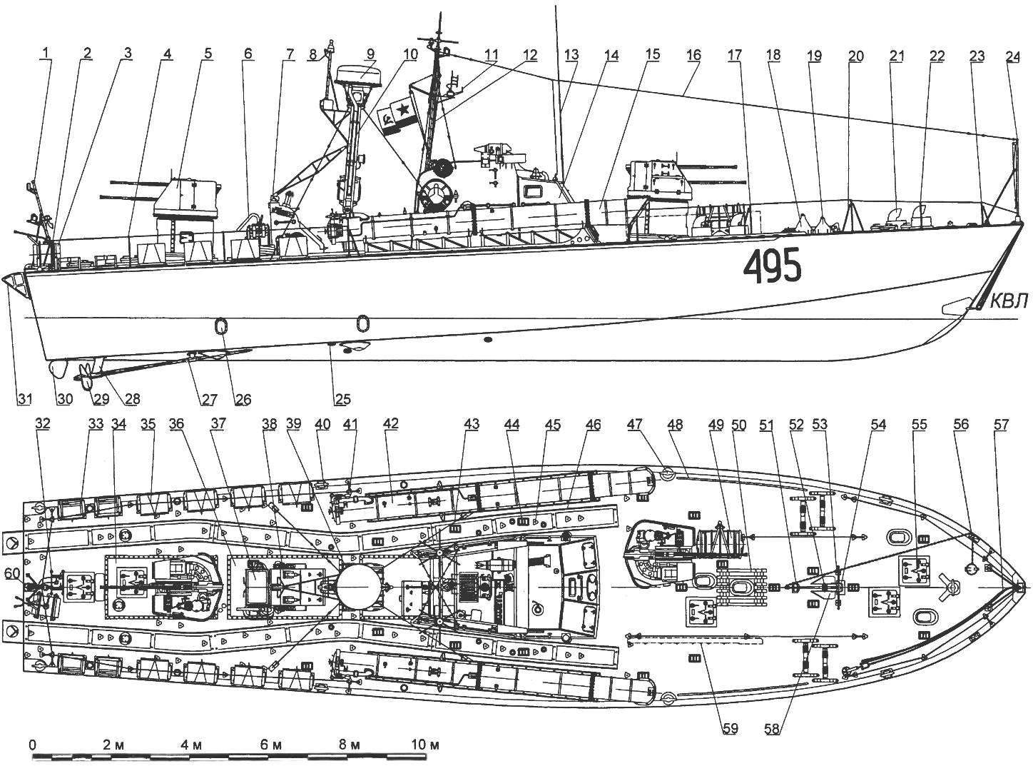 Large torpedo boat of the project 183