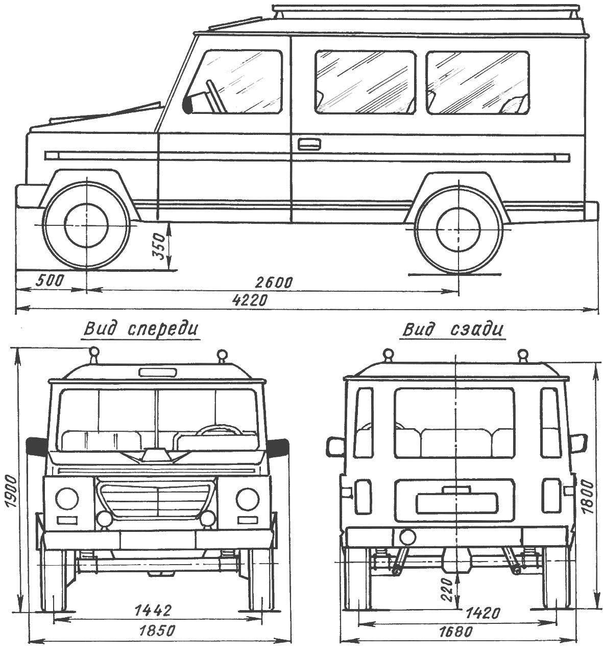 Геометрическая схема автомобиля