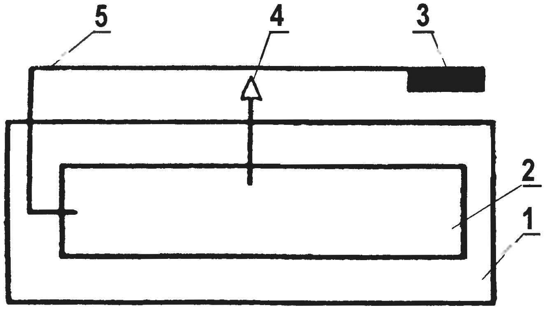 Простейший вариант самодельного датчика качания, приемлемый для охранной системы с использованием самодельного радиомаячка (антенна, излучающая сигналы в эфир, и пеленгатор — УКВ приемник со встроенной телескопической антенной условно не показаны)