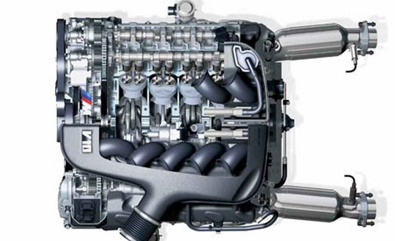 500-сильный V-образный 10-цилиндровый двигатель суперседана