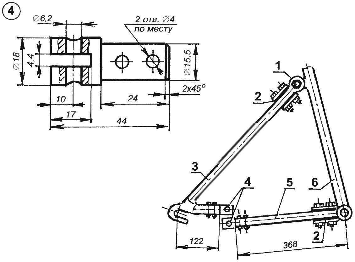 Схема переделки рамы (подседельной и цепной вилок)