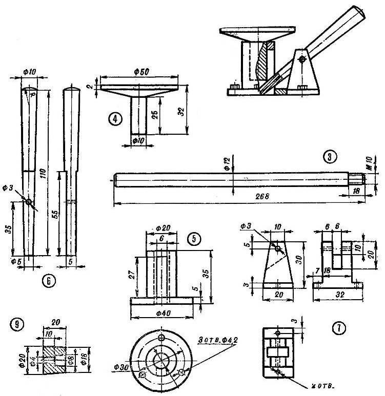 Рис. 3. Схема механизма подачи.