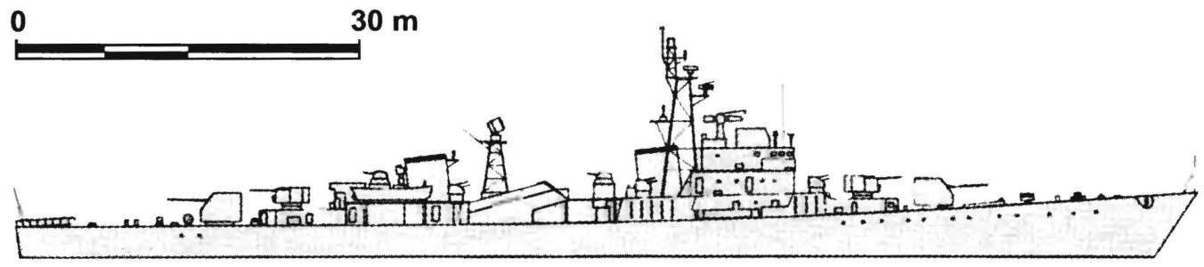 116. Фрегат (СКР) типа «Наджин», КНДР, 1973 г.