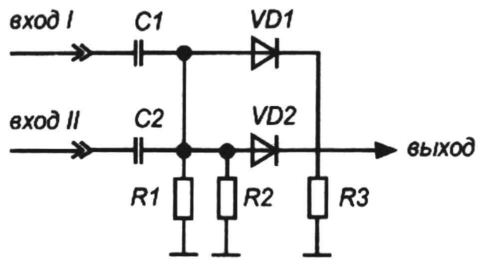 Схема диодного смесителя