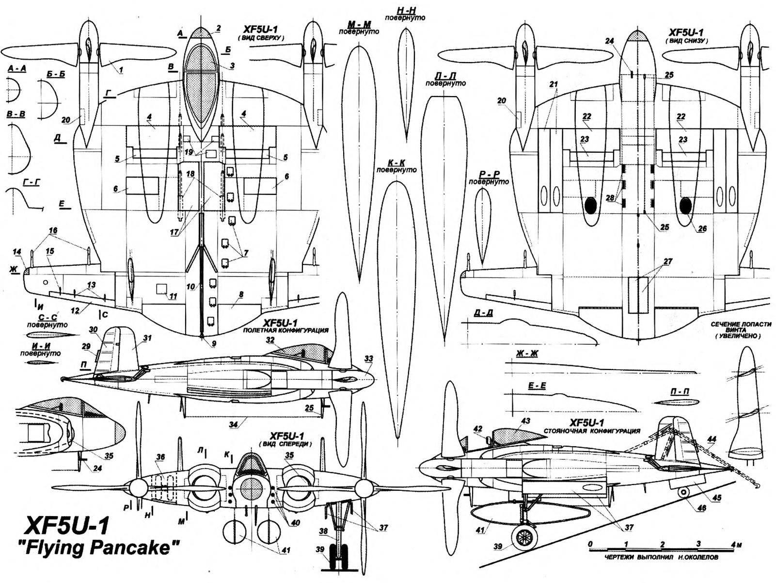 Палубный истребитель XF5U-1