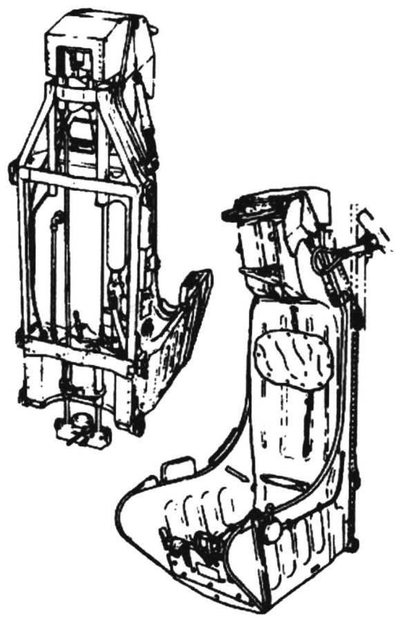 Катапультное кресло JD-1 фирмы Martin-Baker