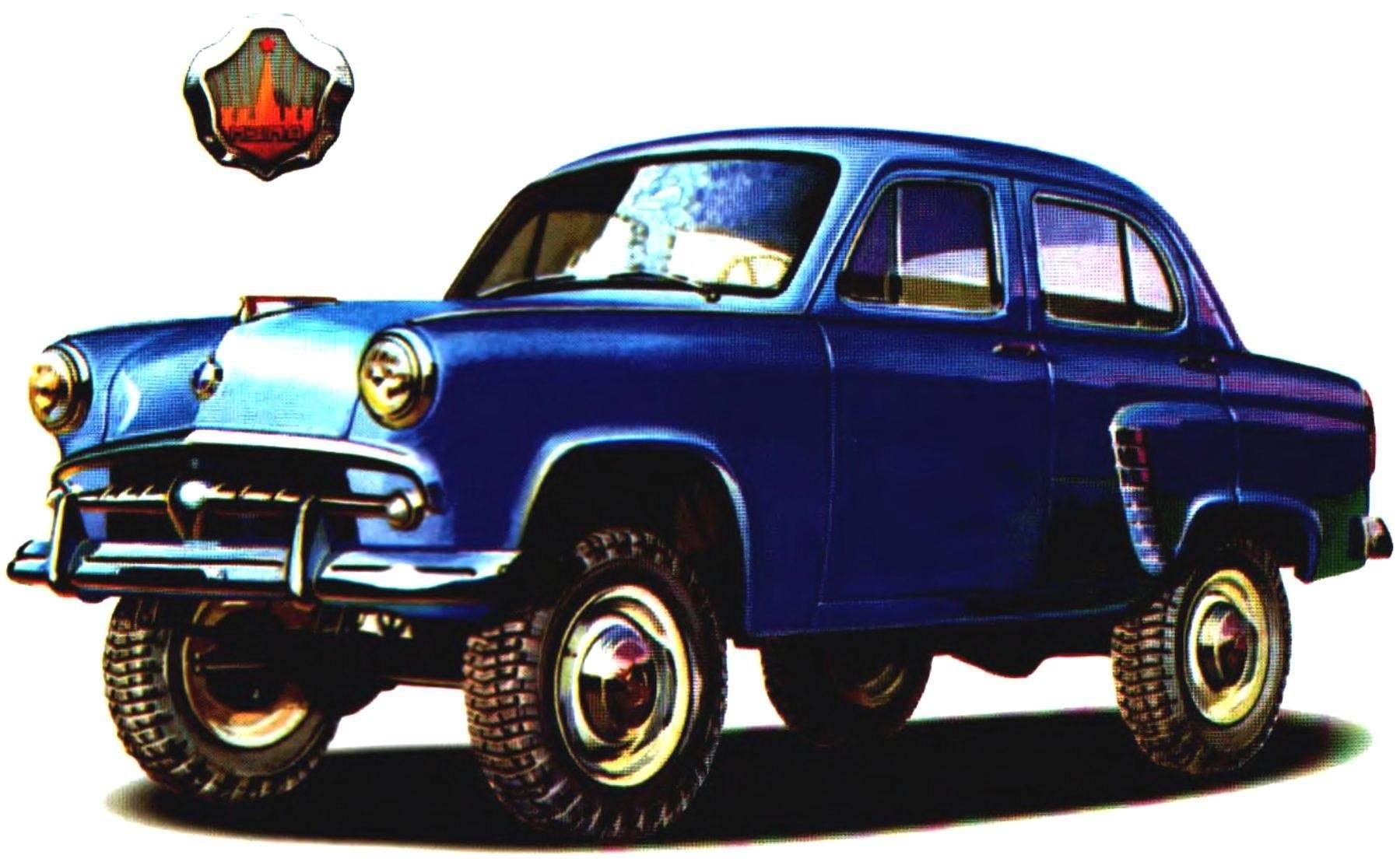 Полноприводной вездеход «МОСКВИЧ-410» — предшественник современных комфортабельных автомобилей-внедорожников