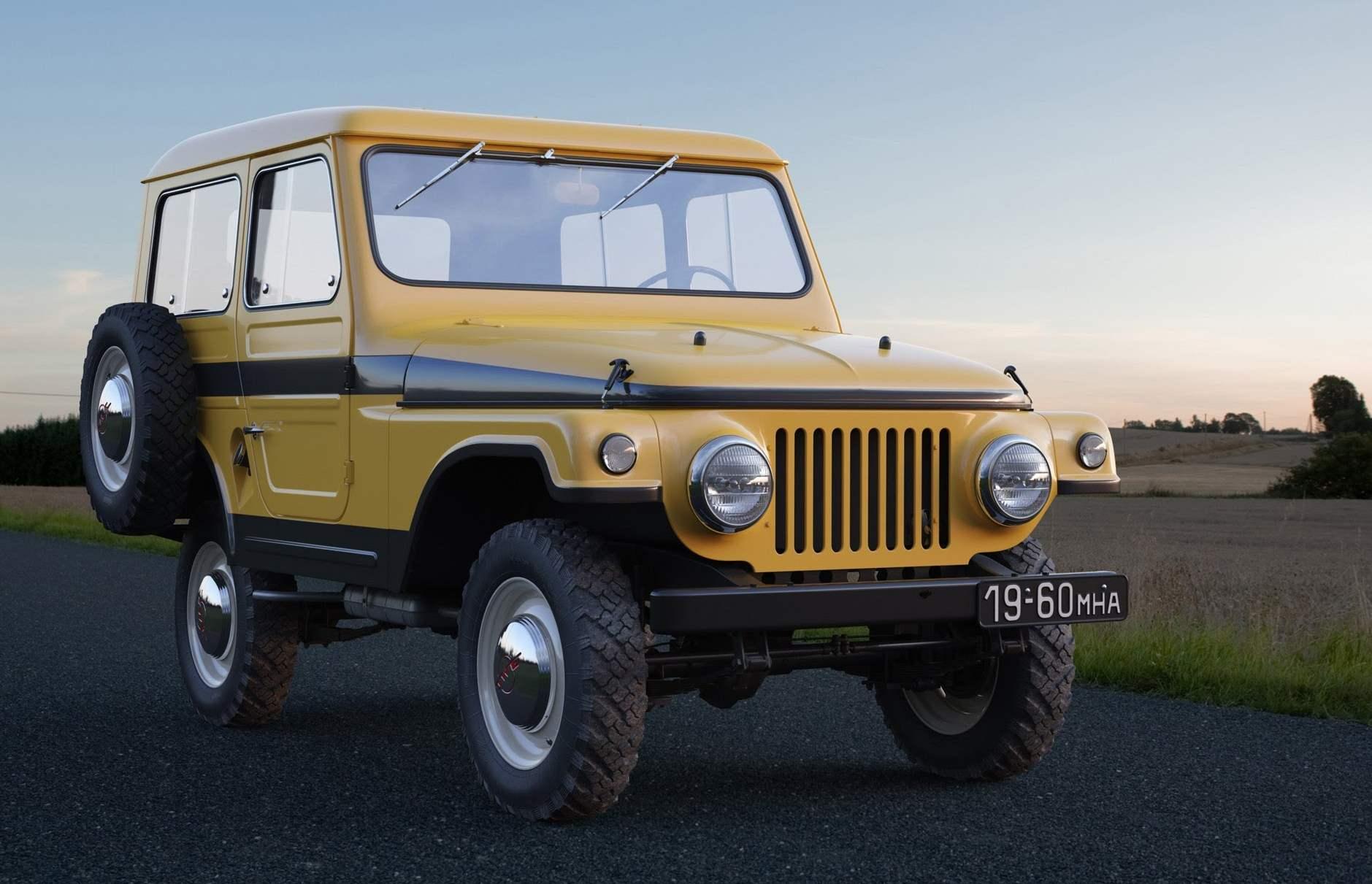 МОСКВИЧ-416 выпуска 1960 года — опытный полноприводной автомобиль на базе моделей 407 и 403