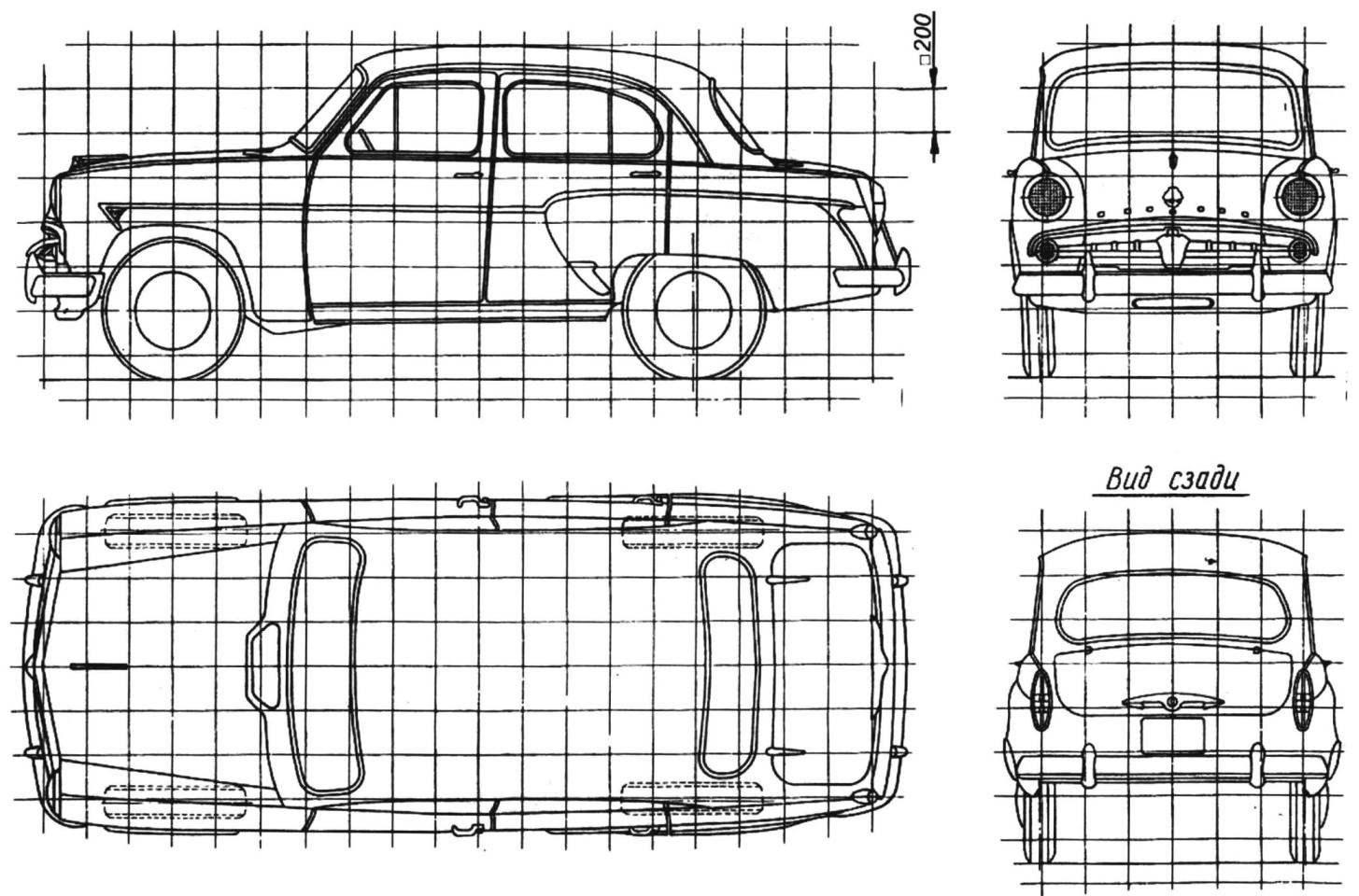 Геометрическая схема автомобиля МОСКВИЧ-403