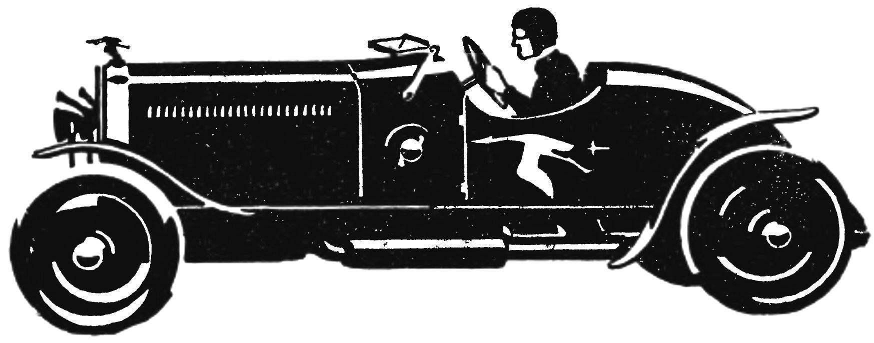 Спортивная «Испано-сюиза-монца» (1922 г.).