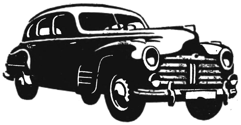 Последний легковой автомобиль «Шкода» с шестицилиндровым мотором (1946 г.).
