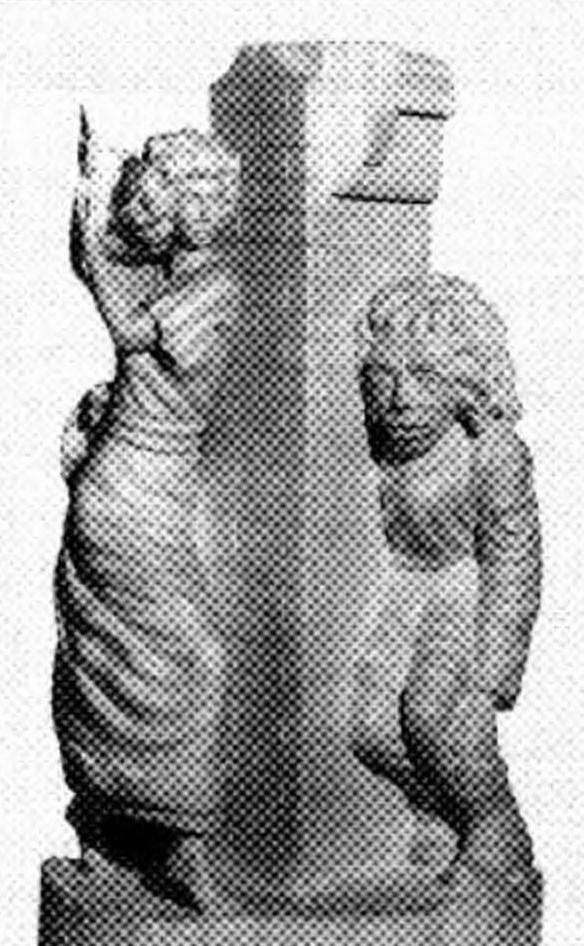 «Эсмеральда и Квазимодо» (высота 450 мм, липа, покрытая воском)