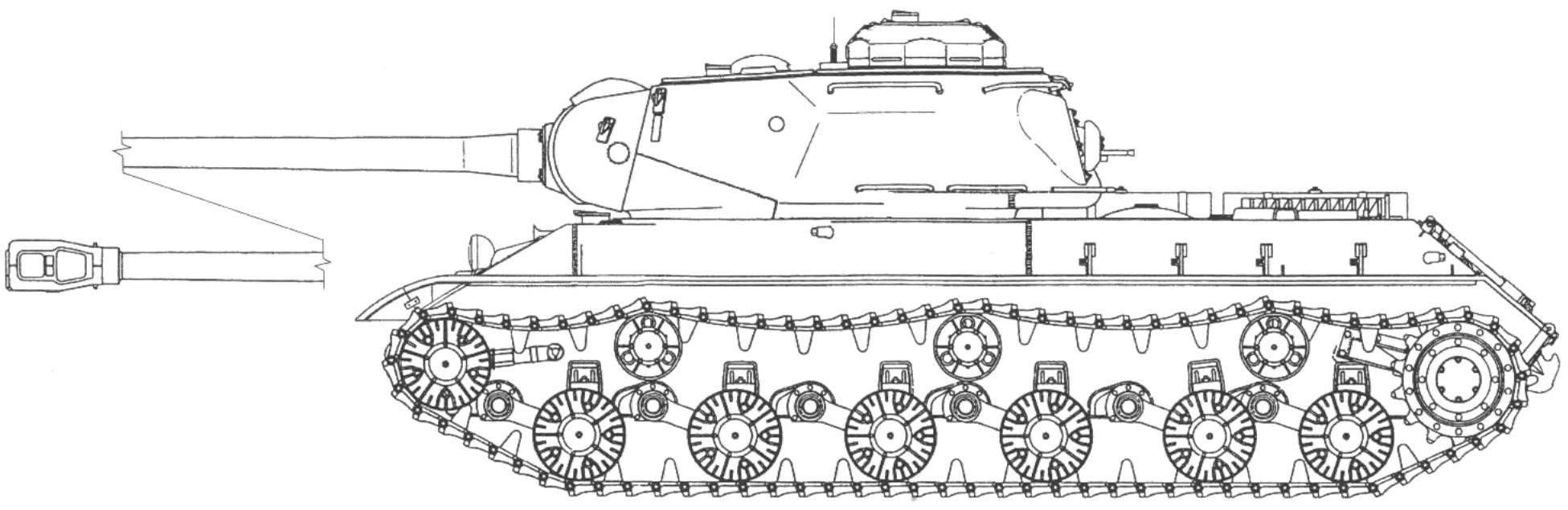 Тяжелый танк ИС-2 выпуска 1944— 1945 гг.