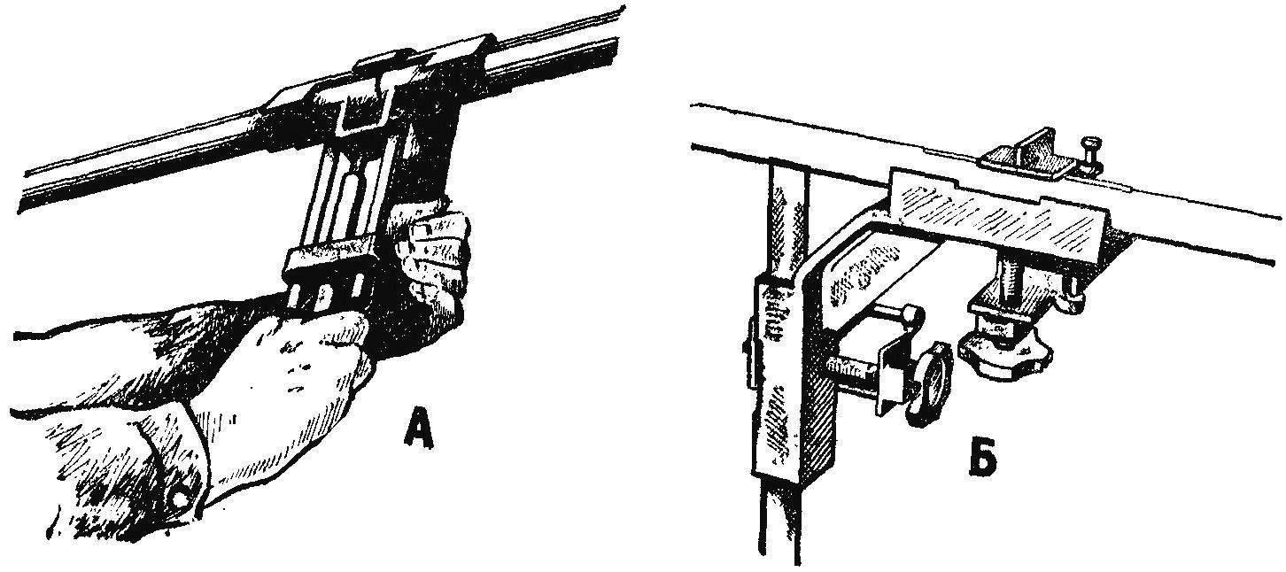 Рис. 5. Приспособления для стыковки труб