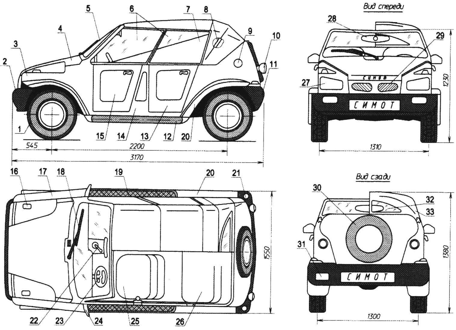 Компактный автомобиль для отдыха и загородных поездок с открывающимся верхом