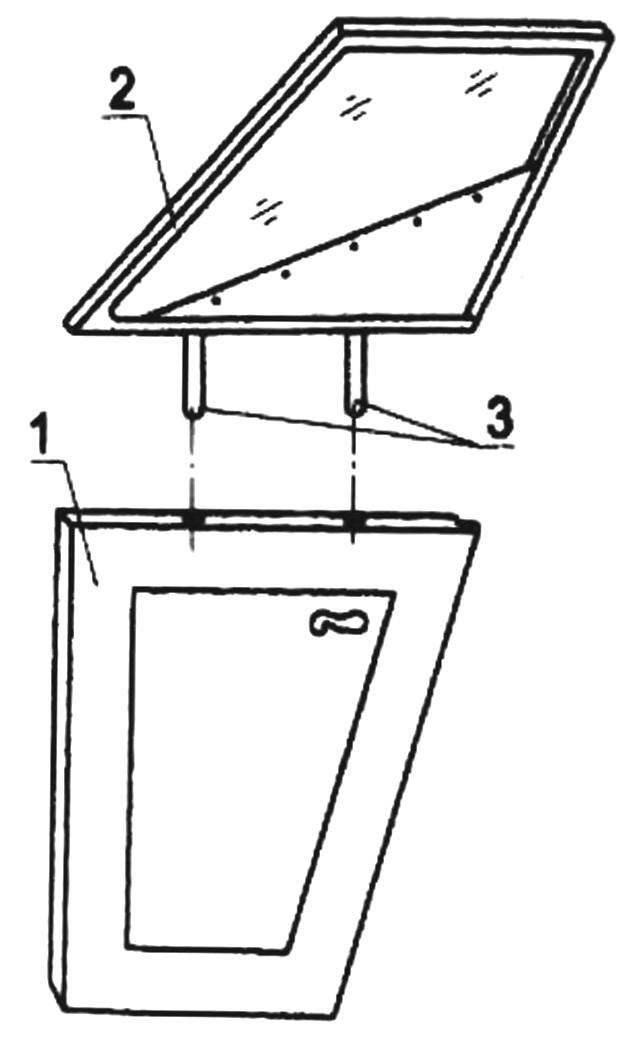Схема установки бокового окна на двери
