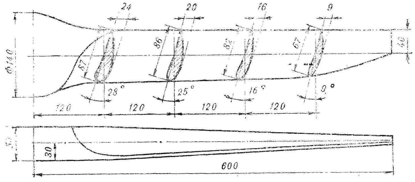 Fig. 6. Propeller planes