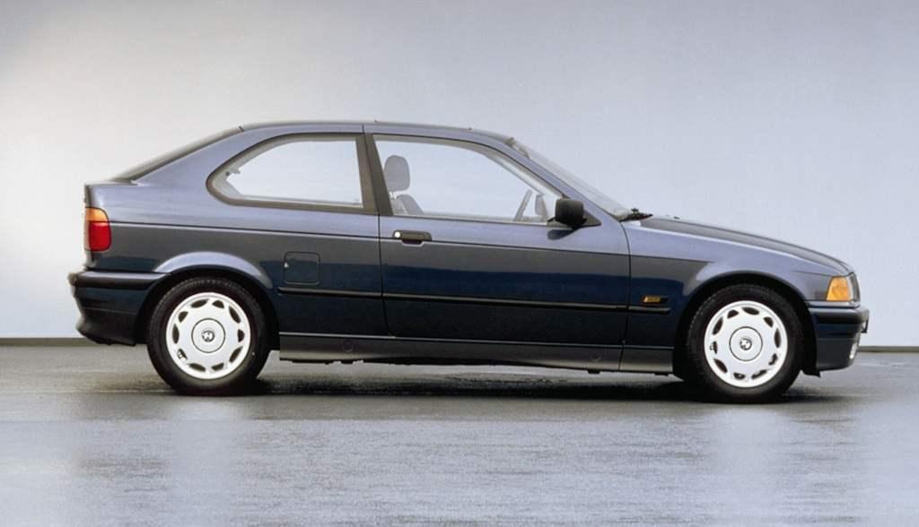 The predecessor of the BMW 1-series — shortened three-door
