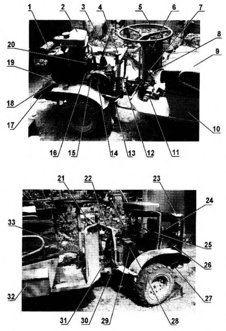 Компоновка многоцелевого тягача с прицепом