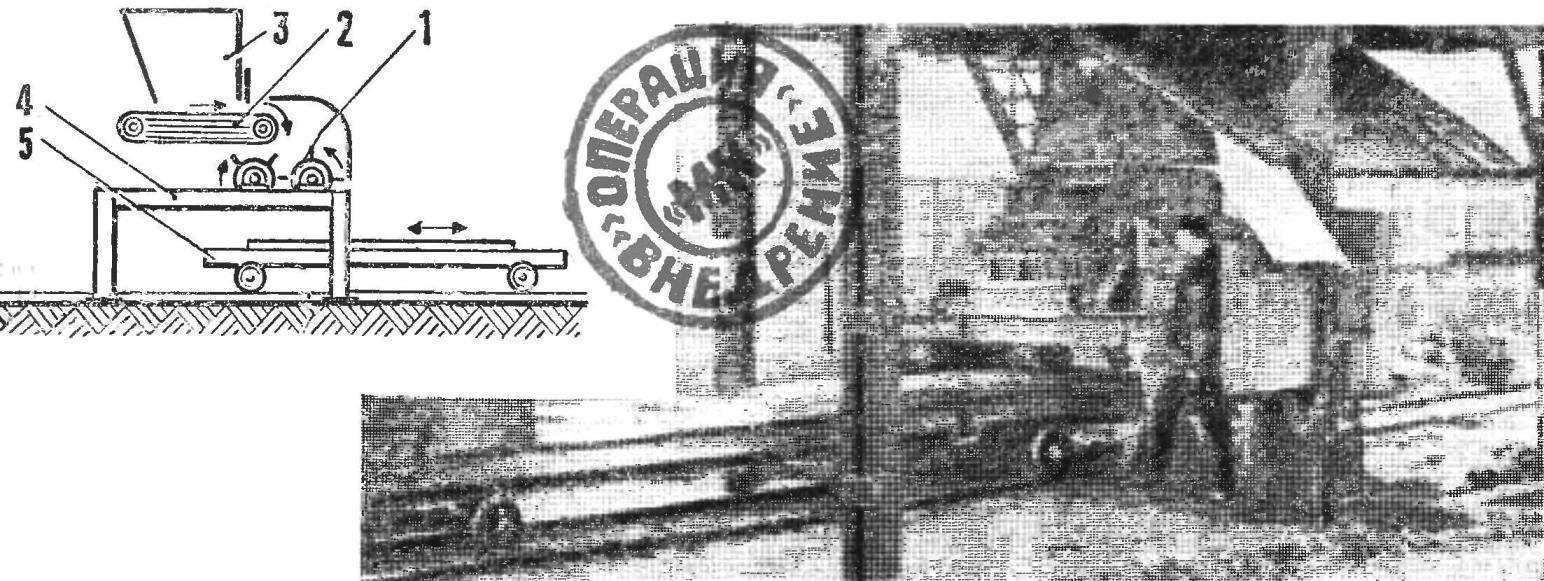 Рис. 1. Бетономет (схема и внешний вид)