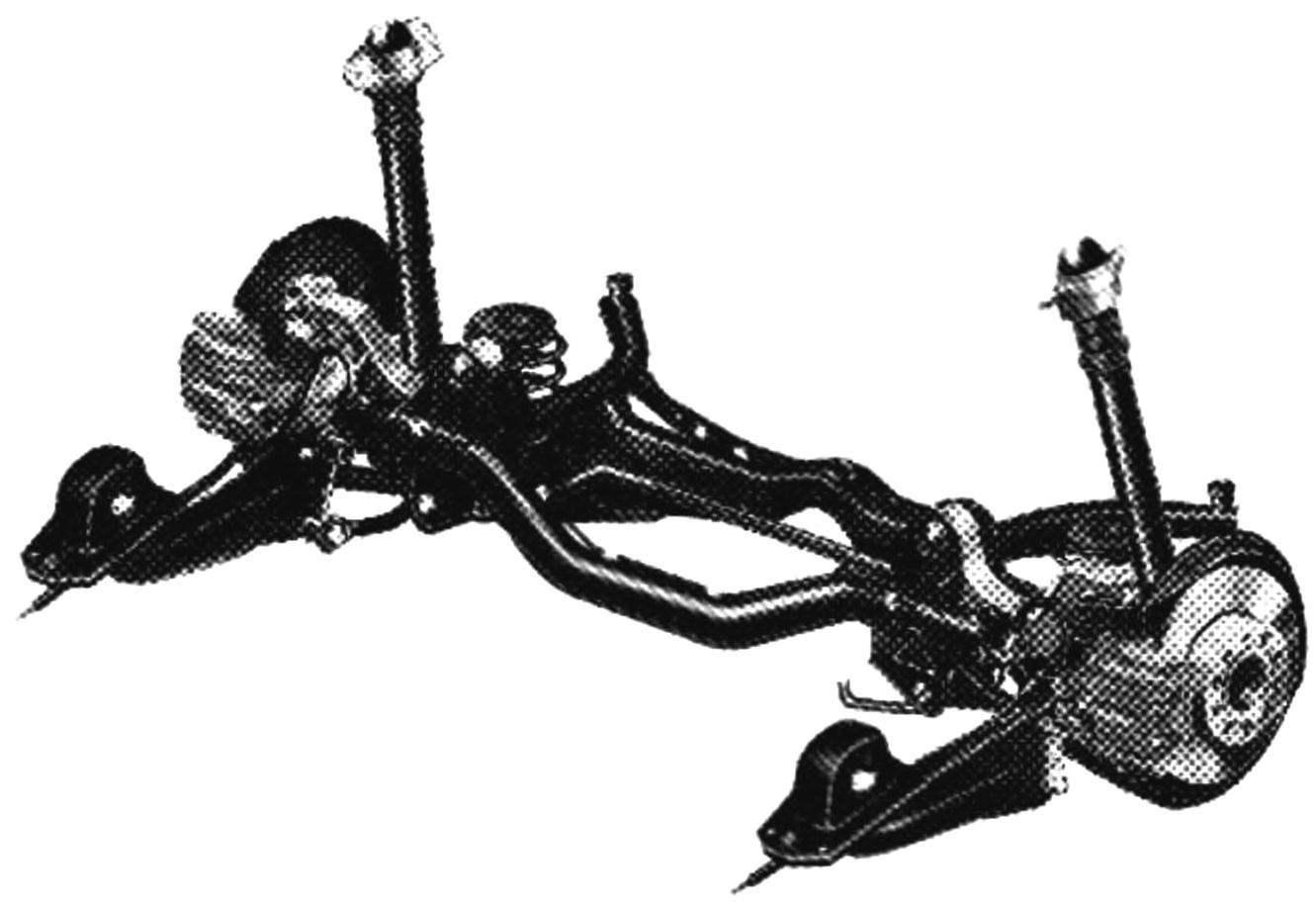 Multi-link rear suspension of Skoda octavia