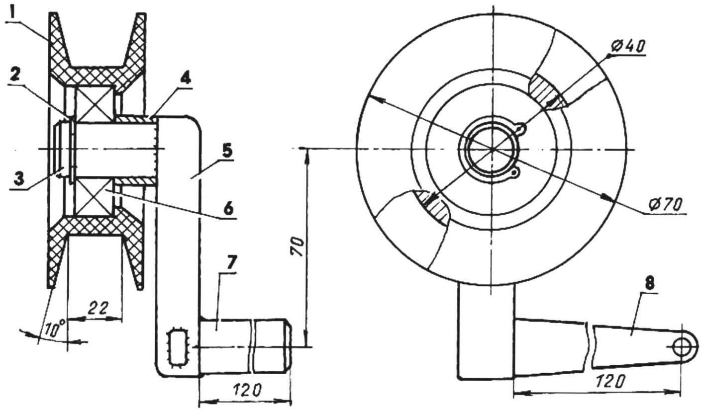 Механизм натяжения клинового ремни вариатора